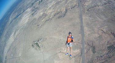 Tracking over Colorado Mountain Skydive